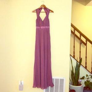 Blush Bari Jay bridesmaid dress